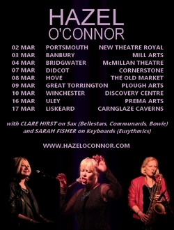Hazel O'Connor An Evening With Tour 2017