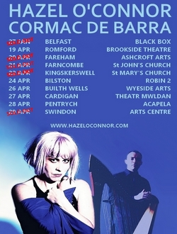 Hazel O'Connor See You Again Tour Tour 2017