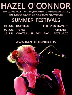 Hazel O'Connor Summer Festivals 2018